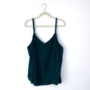 Torrid Dark Green V Neck Tank Blouse